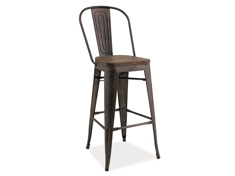 Barová stolička Loft H-1 (orech + grafit)