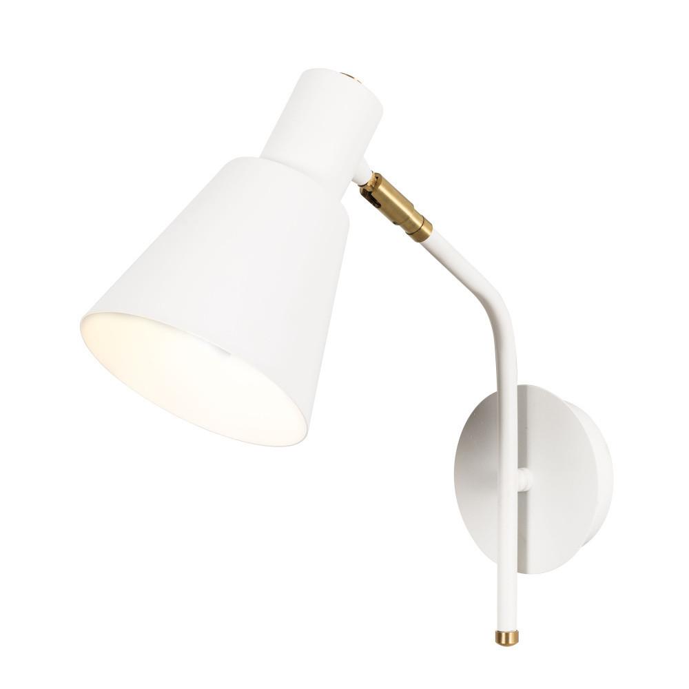 Biele nástenné svietidlo Tanaro