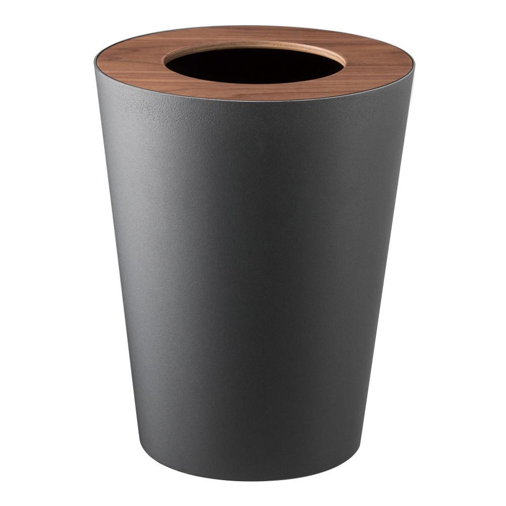 Čierny odpadkový kôš Yamazaki Rin Round