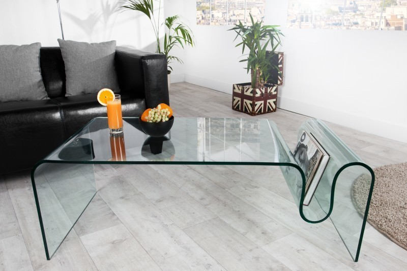 Konferenčný stolík HOSST 125 cm - číra