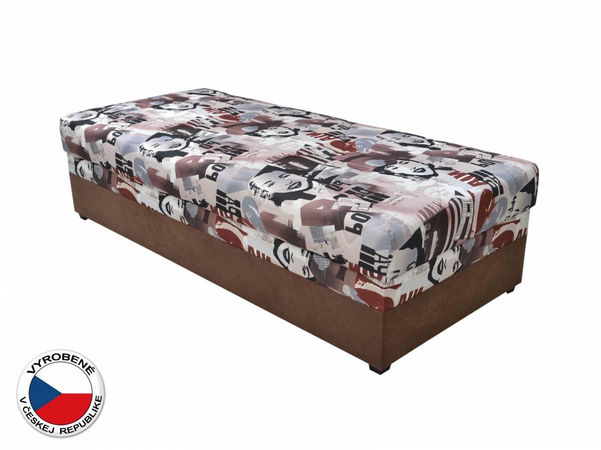 Jednolôžková posteľ (váľanda) 90 cm Blanár Evelina (vzor News 08) (s roštom a matracom)