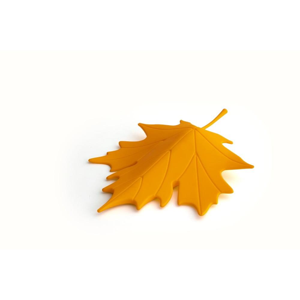 Žltá zarážka pod dvere v tvare listu Qualy&CO Autumn