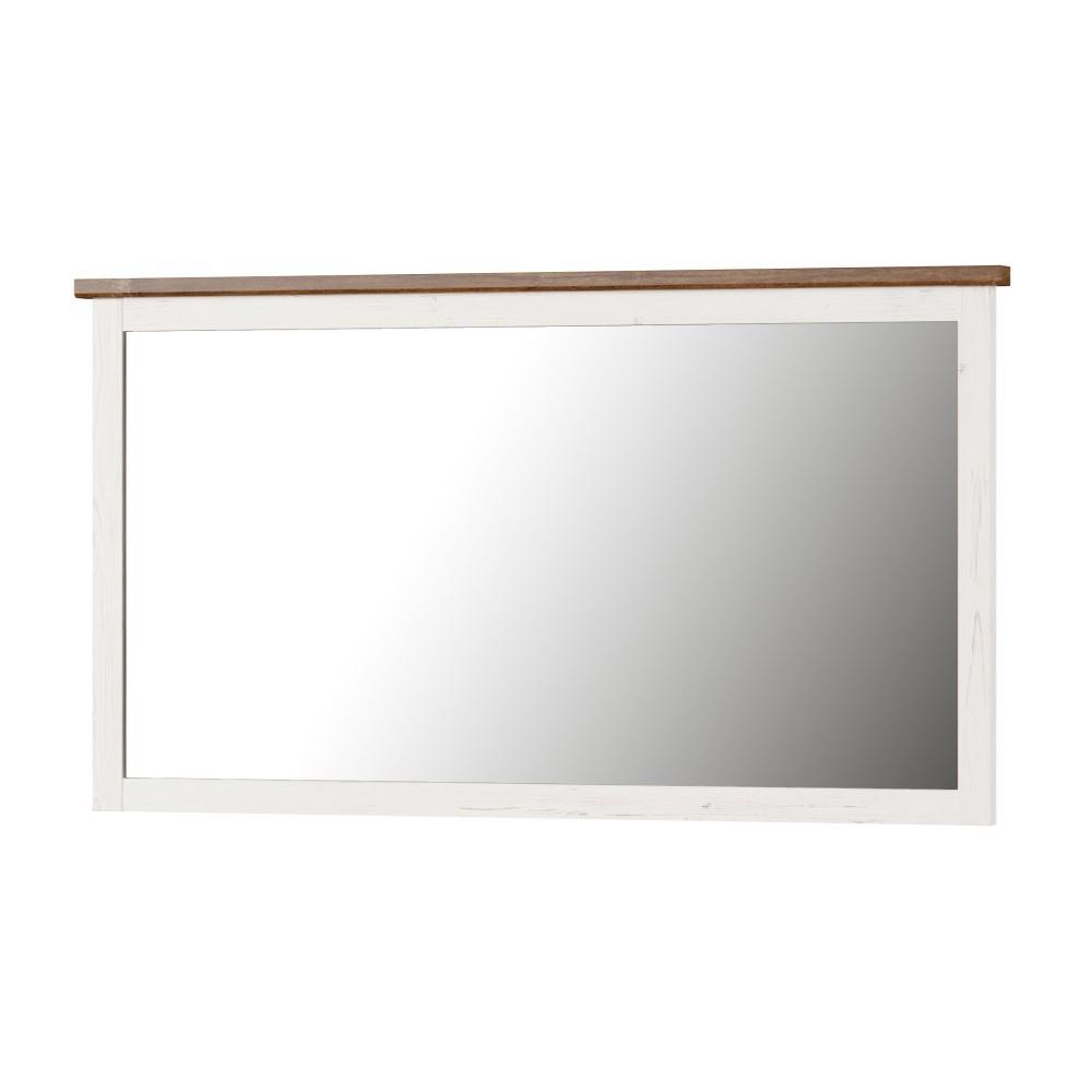 Biele nástenné zrkadlo Szynaka Meble Country