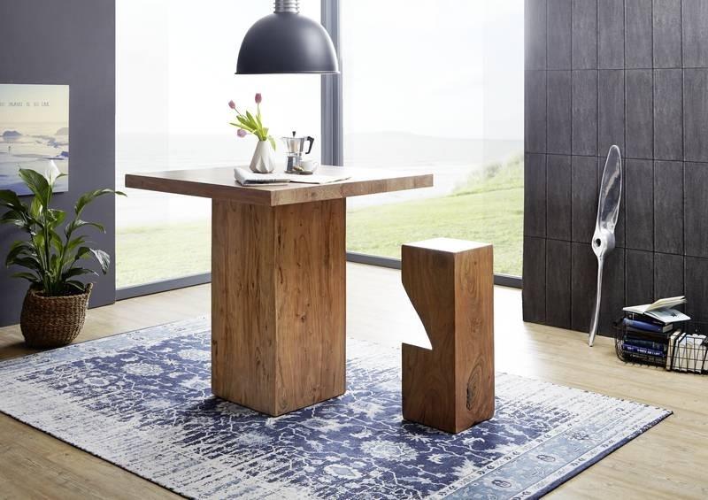 Bighome - PURE NATURE Barový stôl, lakovaná akácia