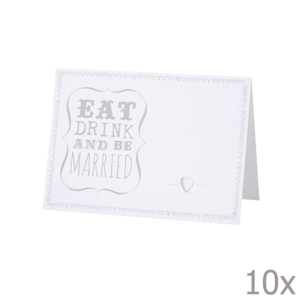 Svadobné menovky Be Married, 10 ks