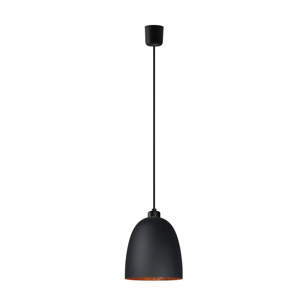 Čierno-medené závesné svietidlo Sotto Luce Awa