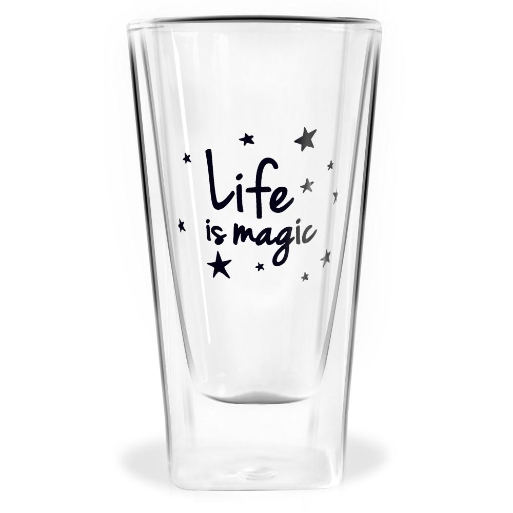Dvojitý pohár Vialli Design Life Is Magic, 300 ml