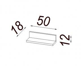 MENHETEN polička 50