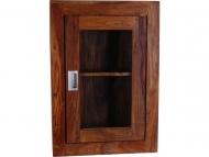 Furniture nábytok  Masívna závesná polica / vitrína z Palisanderu  Farangís  42x15x60 cm