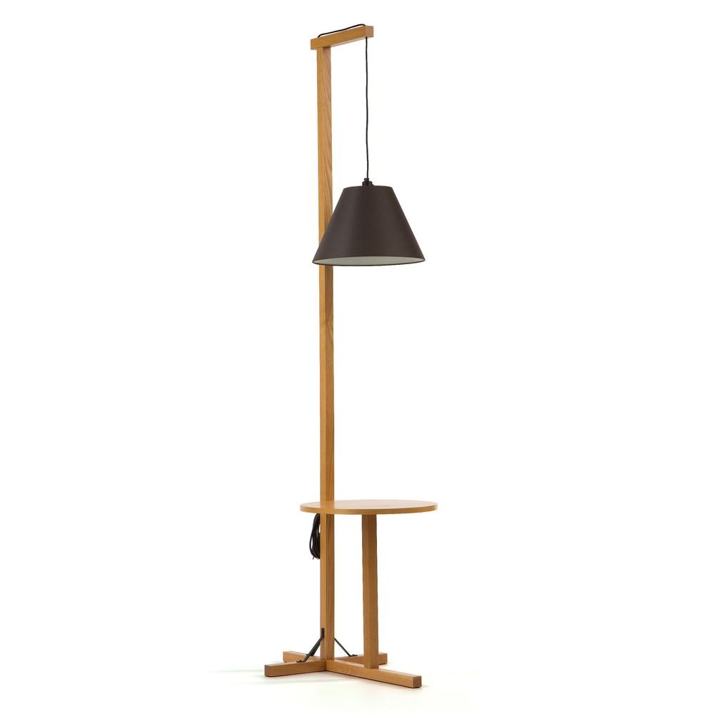 Čierna stojacia lampa Woodman Floor