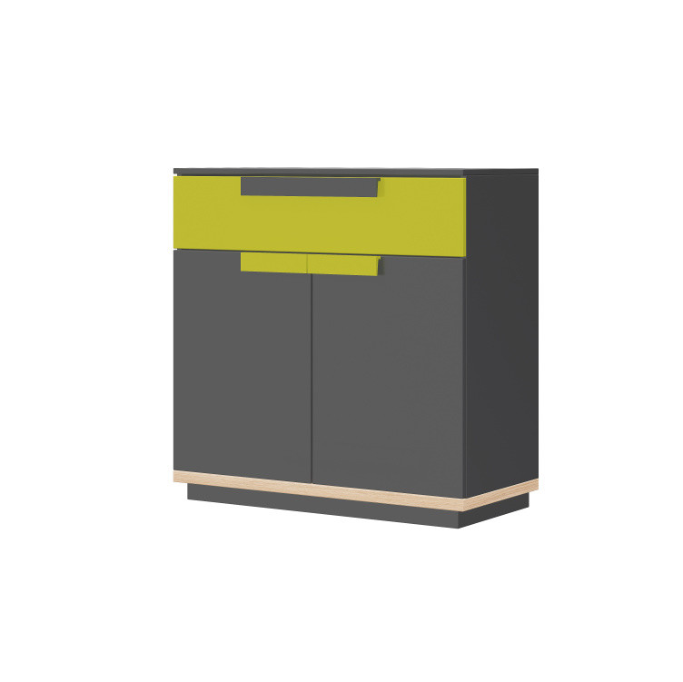 Sivo-zelená komoda so zásuvkou Szynaka-Meble Wow