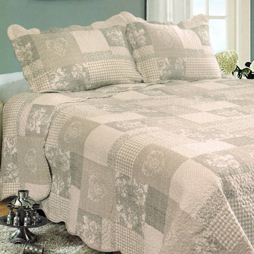 Prehoz na posteľ Patchwork, 230 x 250 cm, 2x 50 x 70 cm, 230 x 250 cm