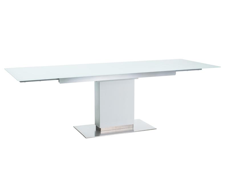 HORIZONT jedálenský rozkladací stôl, biely