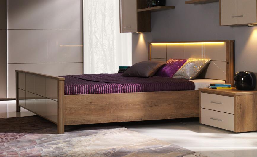 Vien manželská posteľ L180
