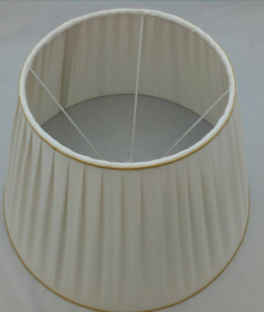 Plysované hodvábne tienidlo na lampu 30cm