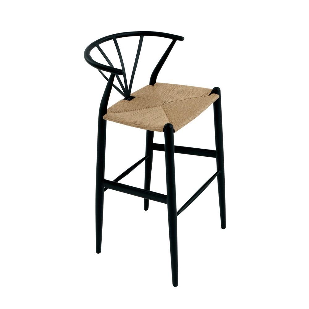 Čierna barová stolička DAN-FORM Denmark Delta