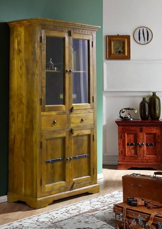 Bighome - CAMBRIDGE HONEY Vitrína 180x90 cm, akácia