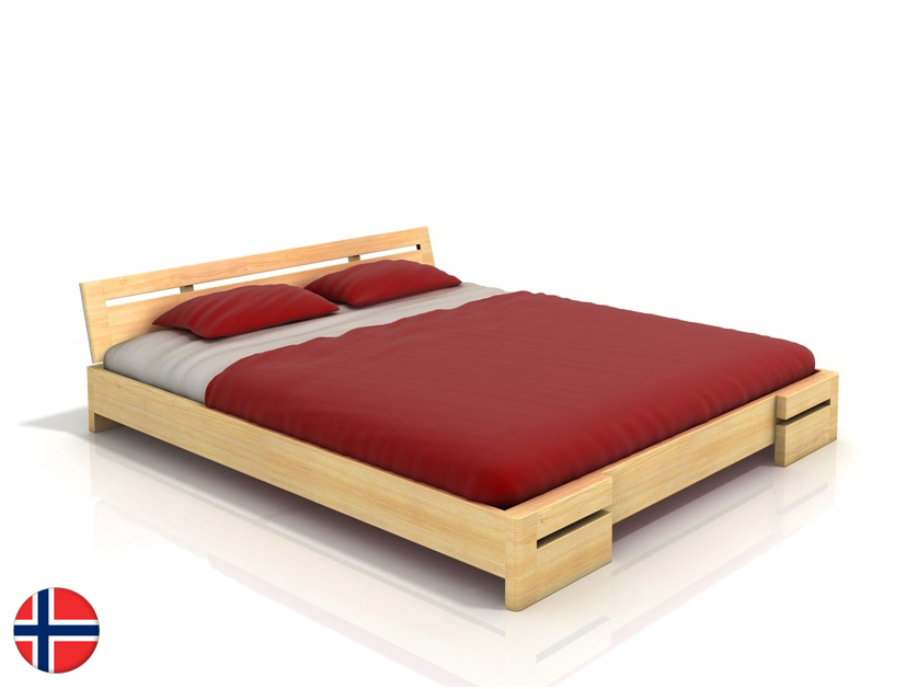 Manželská posteľ 200 cm Naturlig Bokeskogen (borovica) (s roštom)