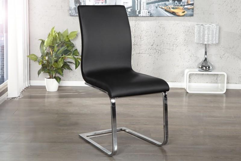 Jedálenská stolička HAMTON - čierna