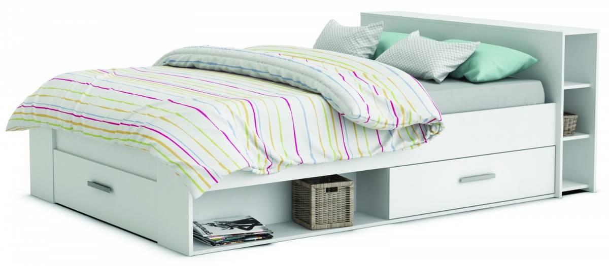 Manželská posteľ 140 cm Roket 159574 biela
