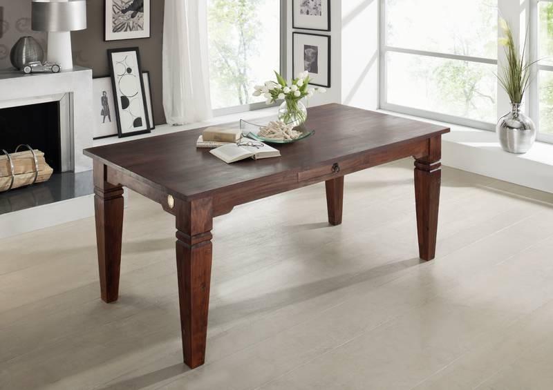 Bighome - SUNO CAMBRIDGE Koloniálny jedálenský stôl 160x90 masívne akáciové drevo
