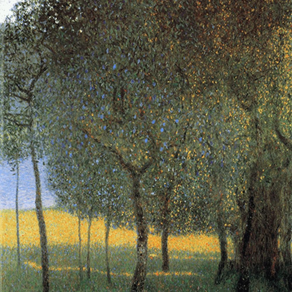 Obraz Gustav Klimt - Fruit Trees, 45x45cm