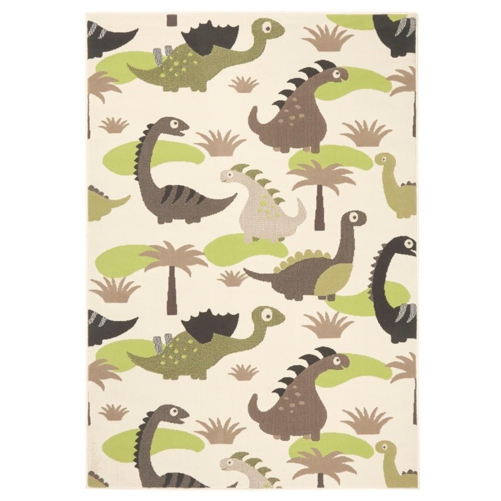 Detský zeleno-hnedý koberec Hanse Home Dinosaury, 140×200cm