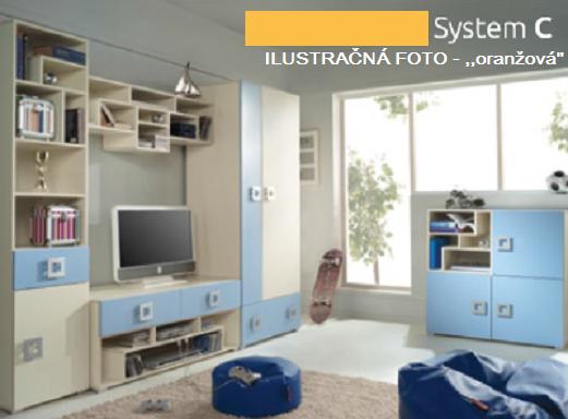 Detská izba Labirynt C | oranžová