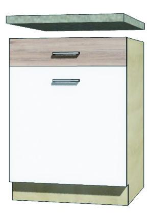 >> EKO - 5D dolná skrinka so zásuvkou a policou 60cm