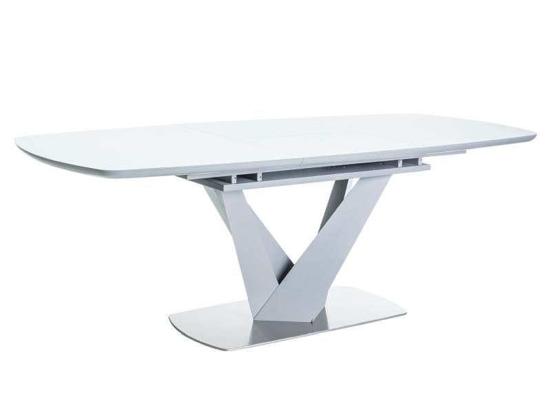 VENGAS jedálenský stôl, biela/šedá