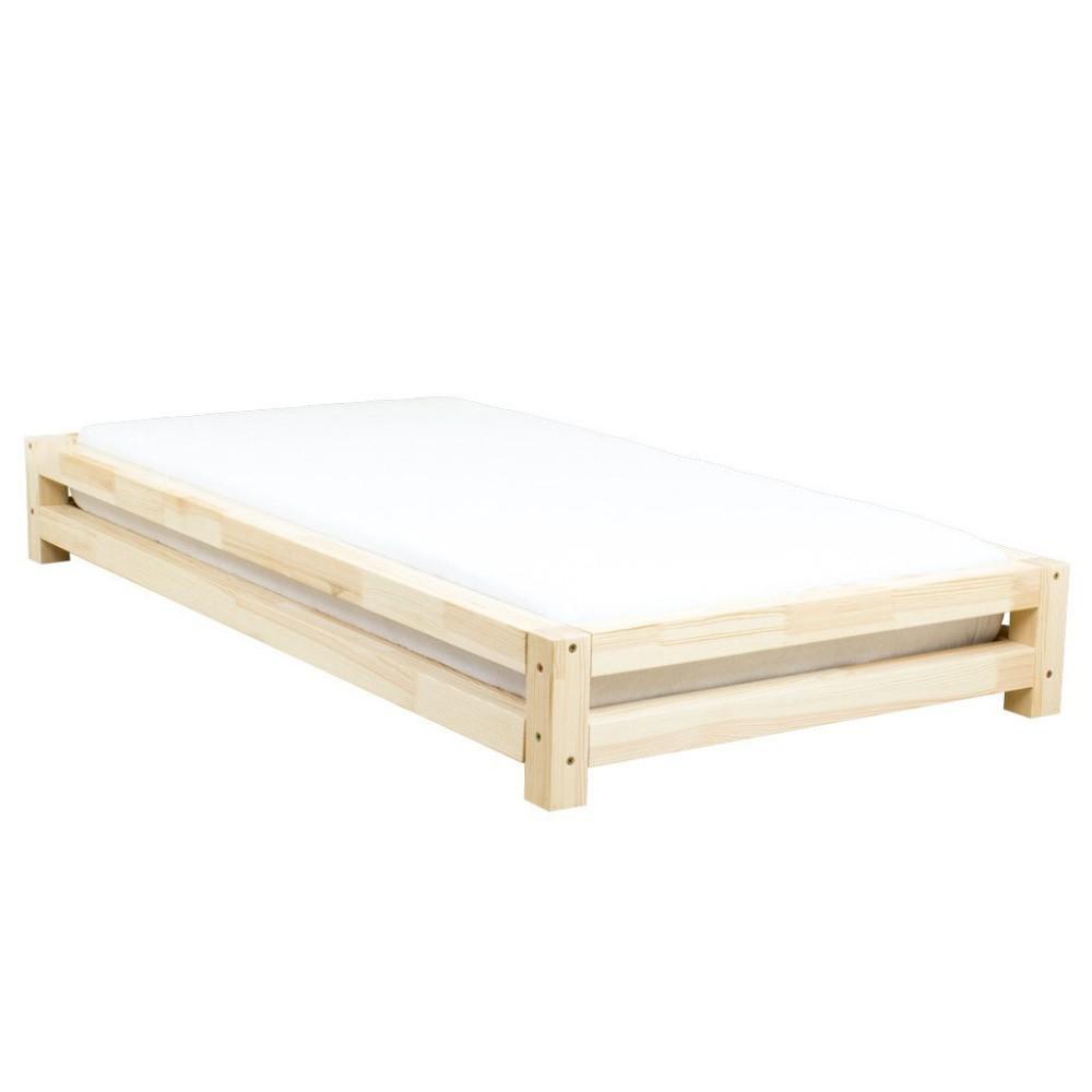 Jednolôžková posteľ zo smrekového dreva Benlemi JAPA Natural, 90 × 190 cm