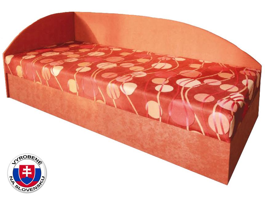Jednolôžková posteľ (váľanda) 80 cm Marta (s pružinovým matracom) (L)