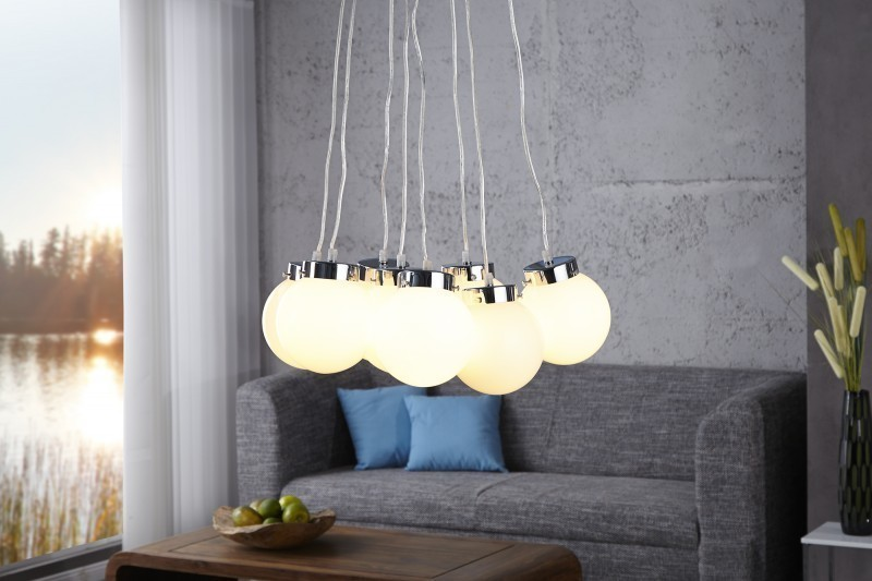 Visiaca lampa ERIDANUS L - biela
