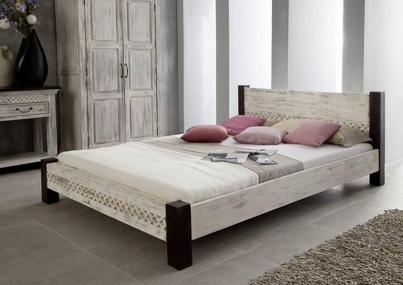 CASTLE-ANTIK posteľ 200x200 #404 mango, agát
