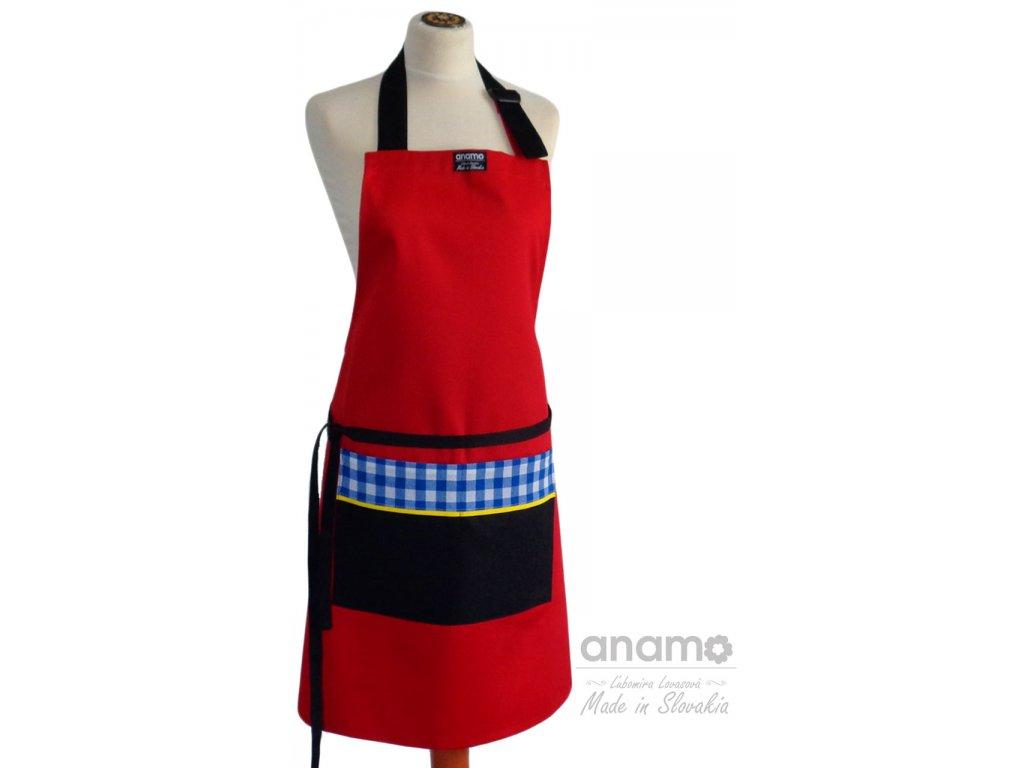 Zástera Anamo Classic červená s čiernym vreckom