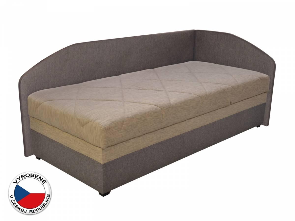 Jednolôžková posteľ (váľanda) 90 cm Blanár Turi (béžová + hnedá) (s roštom a matracom) (P)