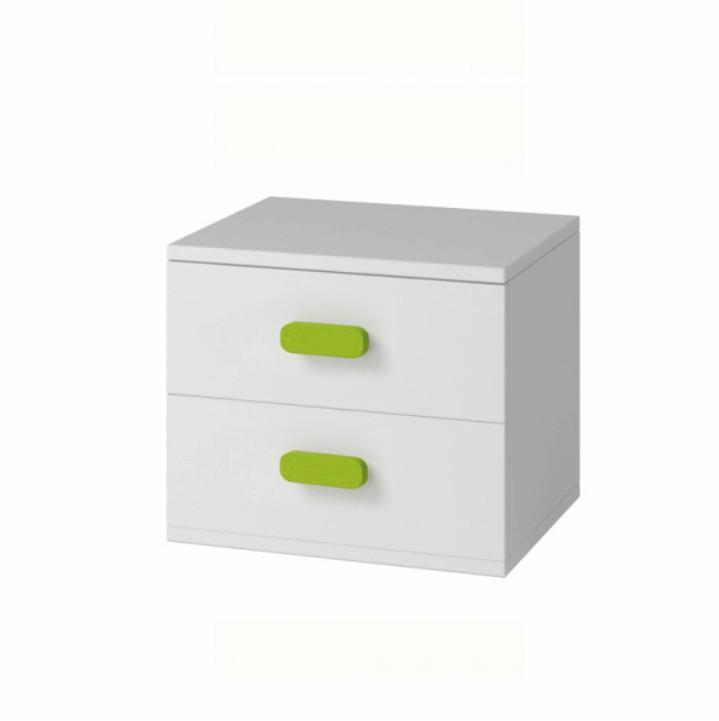 Nočný stolík, DTD laminovaná + ABS hrany, biela, SVEND