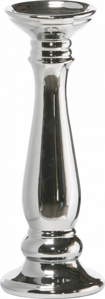 Bighome - Dekoratívny svietnik LOMBARDSKO - strieborná