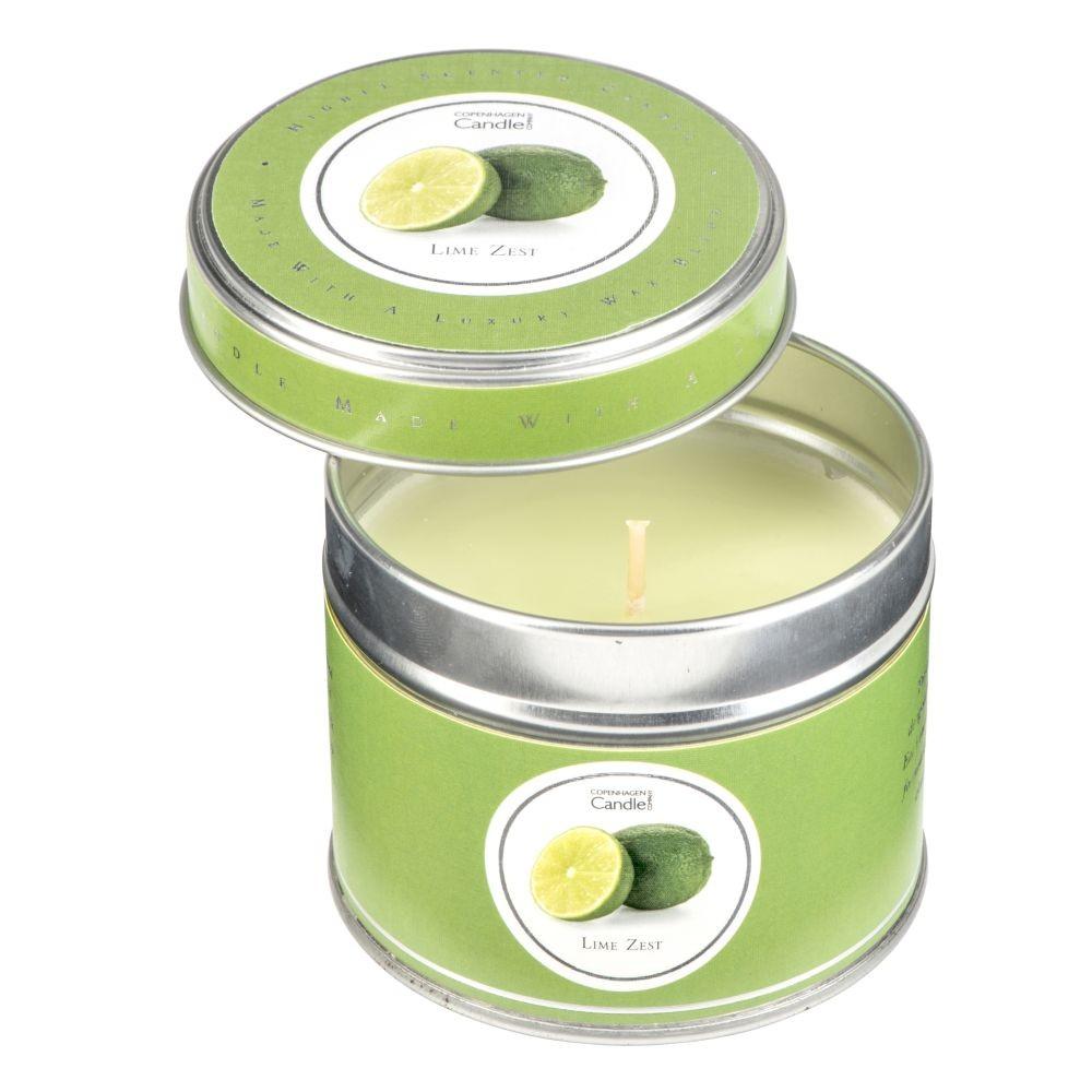 Aromatická sviečka v plechovke Copenhagen Candles Lime Zest doba horenia 32 hodín