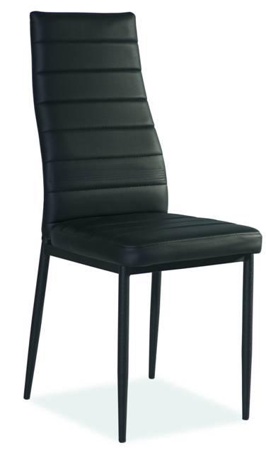 Jedálenská stolička VERME, čierna/čierna