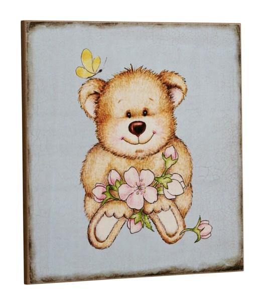 Bighome - Ceduľa BLUE TEDDY BEAR - modrá