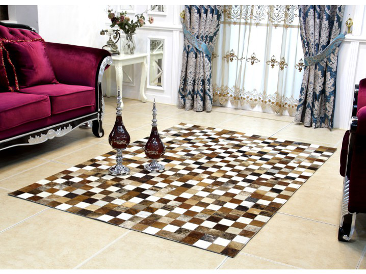 Kožený koberec TYP 03 (hovädzia koža + vzor patchwork)