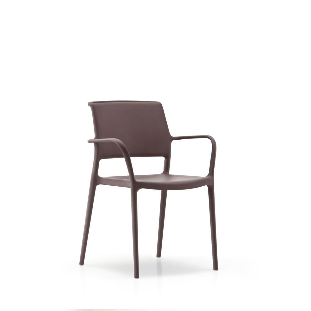 Hnedá stolička s opierkou Pedrali Ara
