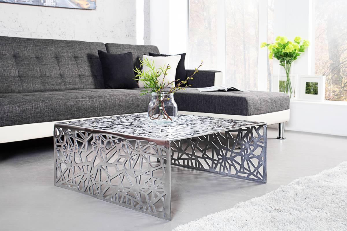 Konferenčný stolík STRACT 75 cm - strieborná