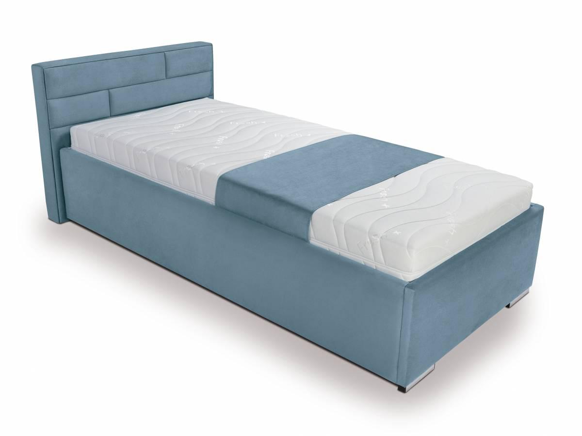 Jednolôžková posteľ 90 cm Kate Futon (tyrkysová)
