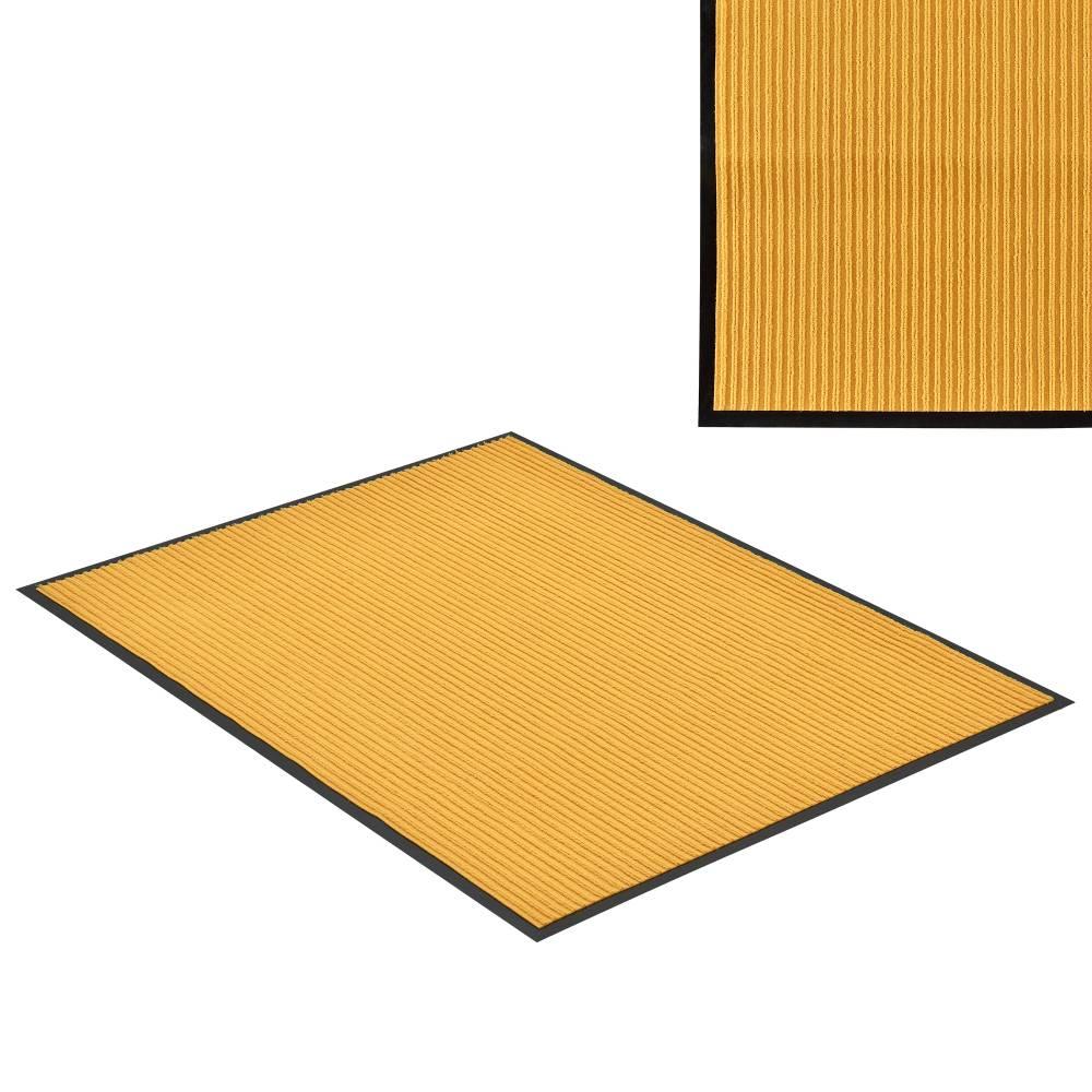 [en.casa]® Rohožka - koberc - 150 x 90 cm - horčicovo žltá