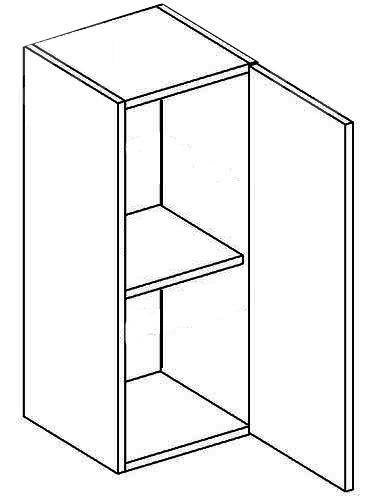 >> W30 P/L horná skrinka jednodverová, vhodná ku kuchyni PREMIUM