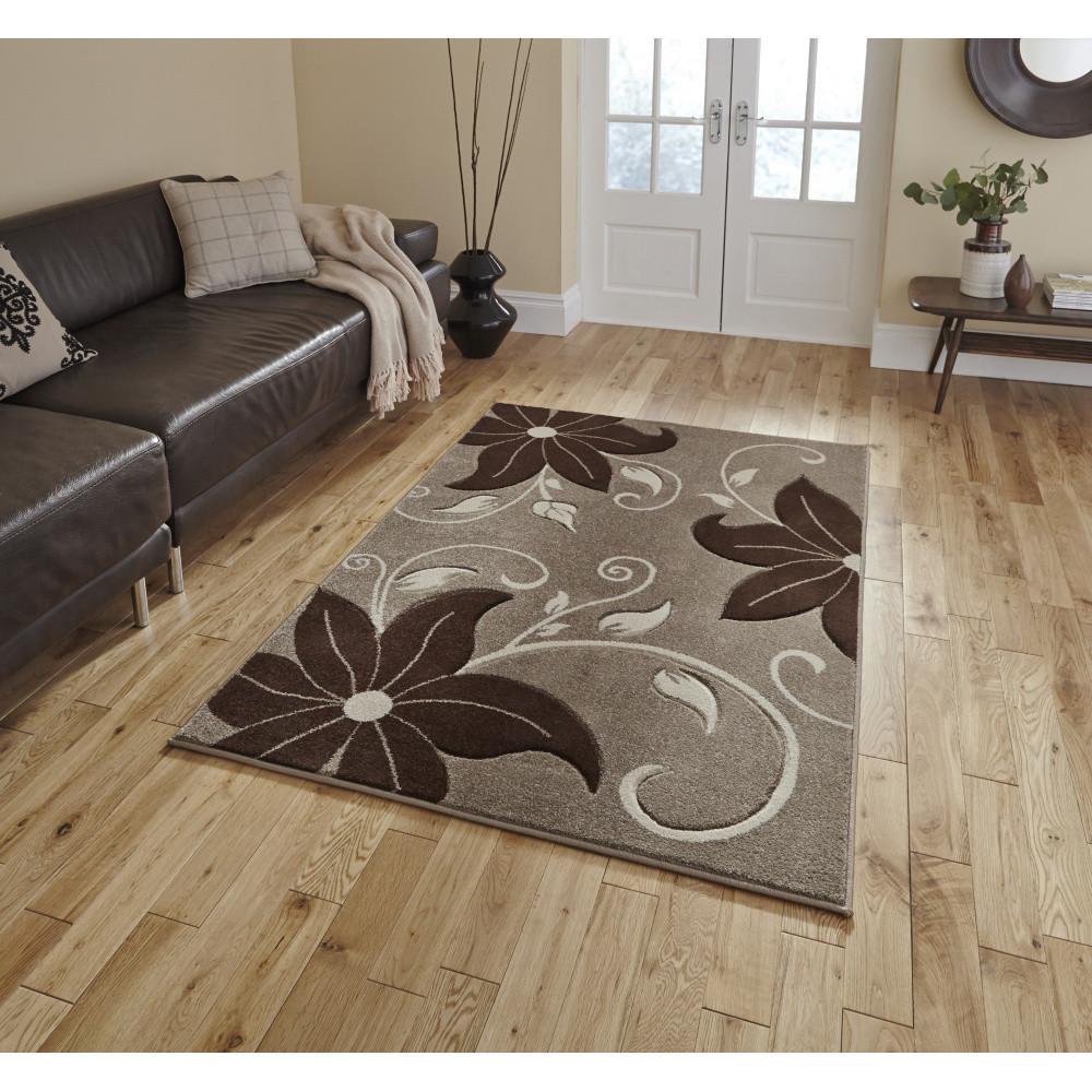 Béžovo-hnedý koberec Think Rugs Verona, 60x225 cm