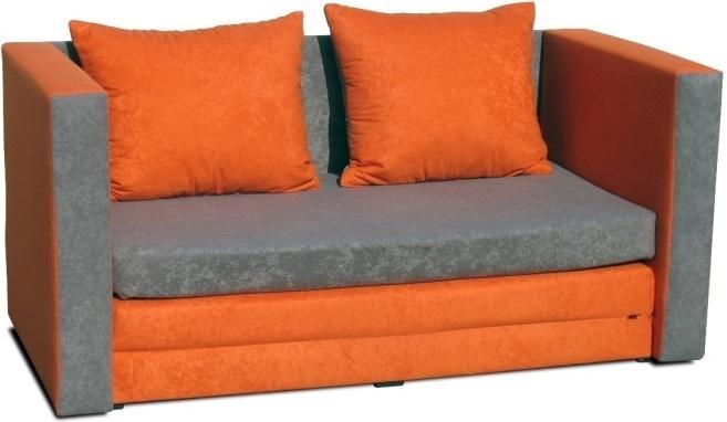 Rozkladacia pohovka, oranžová, KATARINA NEW