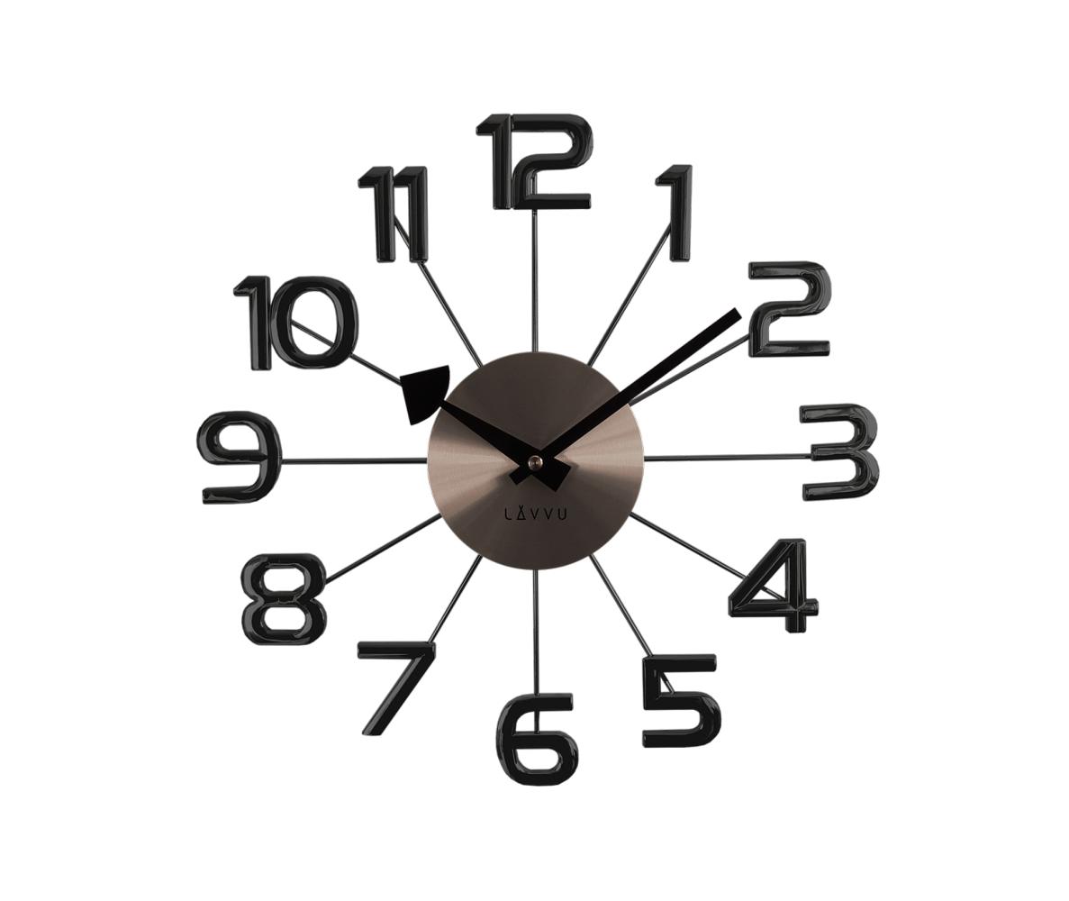Nástenné hodiny LAVVU LCT1042 DESIGN Numerals, antracit, 37cm
